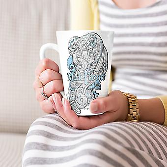 Maleficent Death Skull NEW White Tea Coffee Ceramic Latte Mug 17 oz | Wellcoda