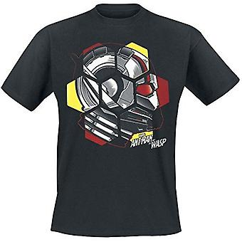 Ant-Man and The Wasp Head T-Shirt Black Large (TS777205ANW-L)