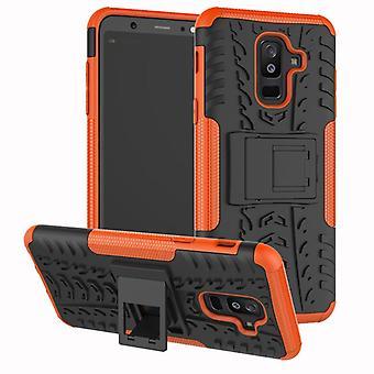 For Samsung Galaxy A6 A600 2018 hybrid sag 2 stykke SWL udendørs Orange taske tilfælde dække beskyttelse