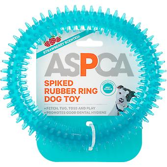 Aspca Spiked Rubber Ring Dog Toy-Blue