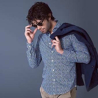 Fabio Giovanni Luppara Shirt - Mens Italian Casual Stylish Floral Shirt - Long Sleeve