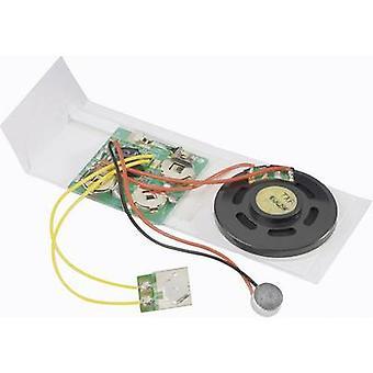 Audio grabación unidad componente Conrado componentes 191184 4,5 Vcc grabación tiempo 10 s