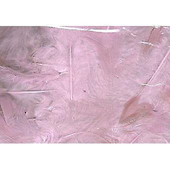 5g Pale Pink Fluffy Craft Feathers   Scrapbooking Card Making Embellishments