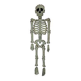 Biały drewno duża straszny szkielet ozdób Halloween