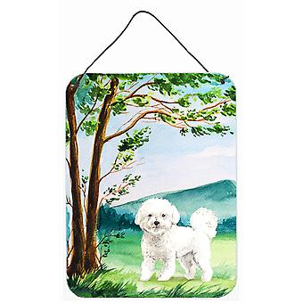 Under the Tree Bichon Frise Wall or Door Hanging Prints
