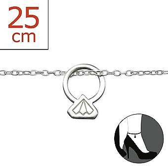 Ring - 925 Sterling Silver Anklets - W27645x