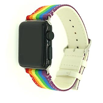 Nylon Strap for 3/2/1 Apple Watch 42 mm-Pride