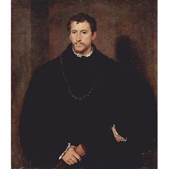 Portrait of a Gentleman, Titian, 60x50cm