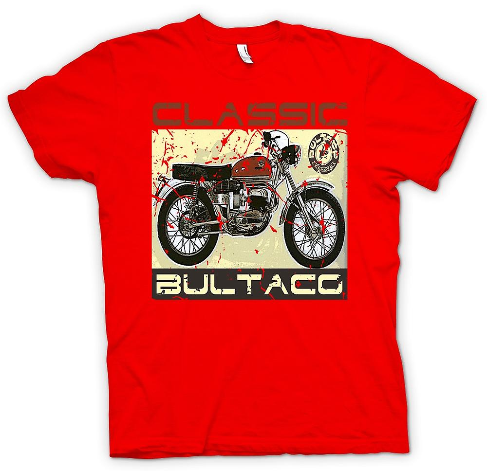 Mens T-shirt - Bultaco Classic Dirt Bike