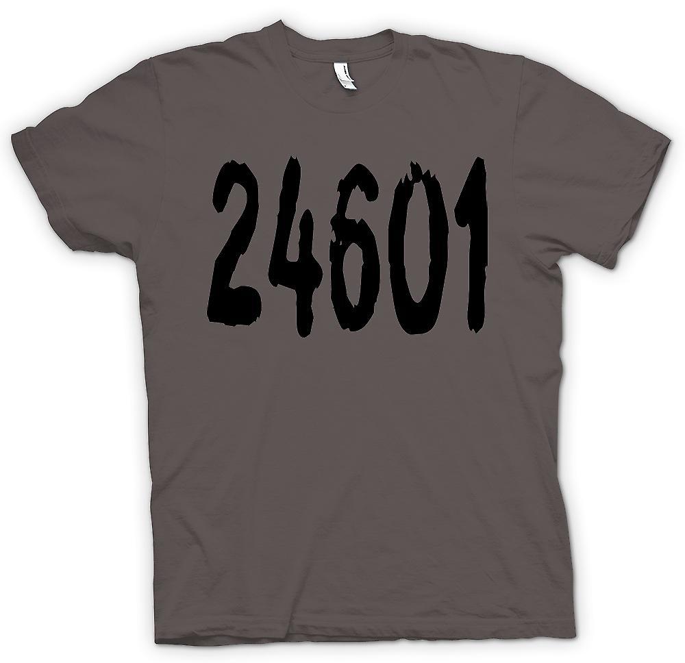 Mens T-shirt - 24601 - Jeann Valjean Gefängnis Anzahl