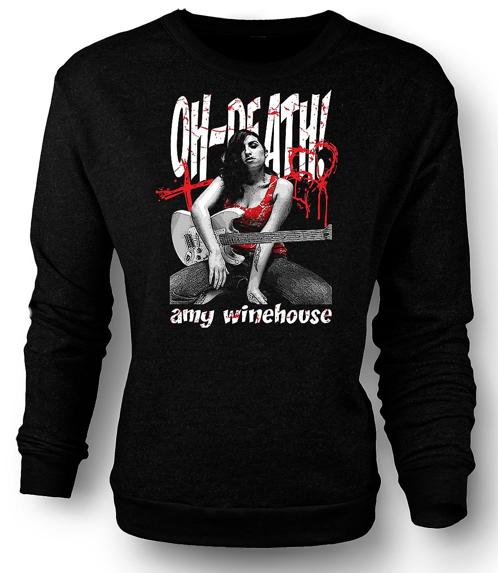 Mens Sweatshirt Amy Winehouse - Oh Death