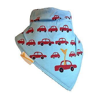 Blue & red cars bandana bib