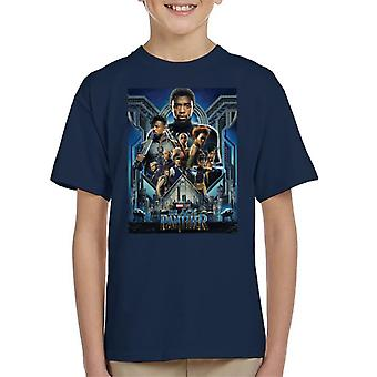 Marvel Black Panther Movie Poster Kid's T-Shirt