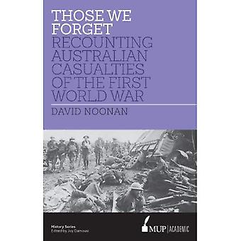 Those We Forget: Recounting Australian Casualties of the First World War