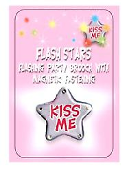 Flash Star Badge-kyss meg (Pack 1)