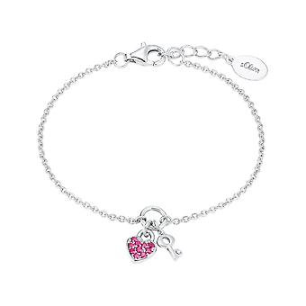 s.Oliver jewel children and adolescents bracelet silver heart/key 2024213