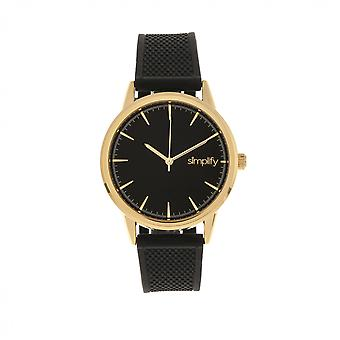 Simplify The 5200 Strap Watch - Gold/Black