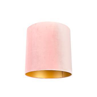 QAZQA sombra 40/40/40 veludo envelhecido rosa com ouro