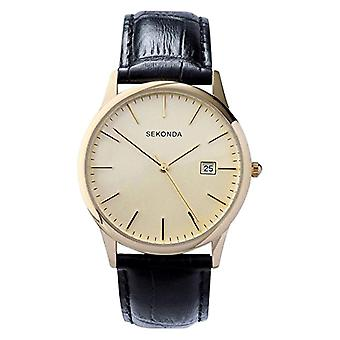 Sekonda wrist watch, analog, Man, skin, black (4)