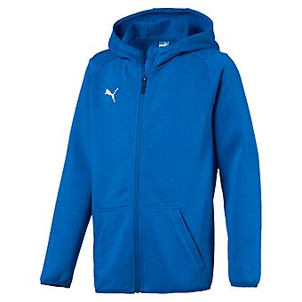 PUMA League casuals Hoody Jr kids Hoody electric blue lemonade