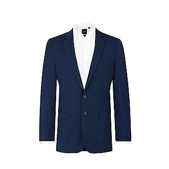 Dobell Mens Dark Blue 2 Piece Suit Slim Fit Notch Lapel