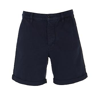 Nudie Jeans Co Luke Cotton Twill Navy Shorts