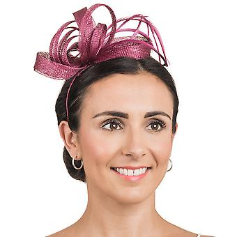 Hawkins Collection Womens/Ladies Ribbon And Feather Fascinator