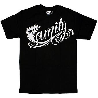 Famous Stars and Straps Family T-shirt Black White
