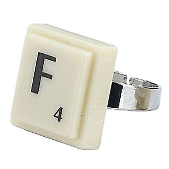 Square Alphabet Adjustable 'F' Ring