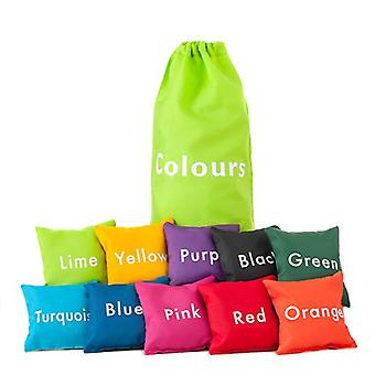 Colori 10 pz educativo fun learning e sensoriale Bean Bag set