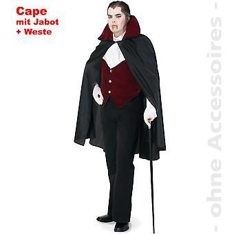 Räkna Dracul kostym mäns Cape Dracula vampyr Halloween mens kostym