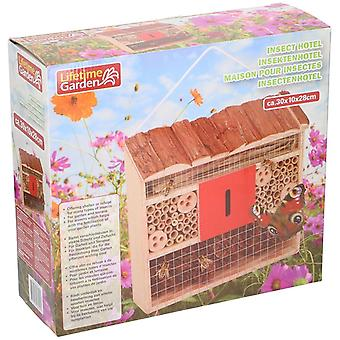 Insect Hotel 30x10 Natural colour  Wood Make