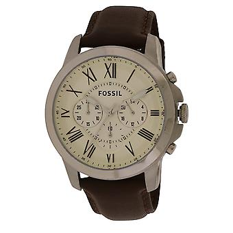 Fossil Grant Chronograph Leather Mens Watch FS4735