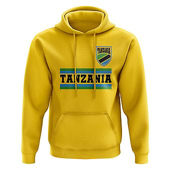 Tanzania Core fotboll land Hoody (gul)
