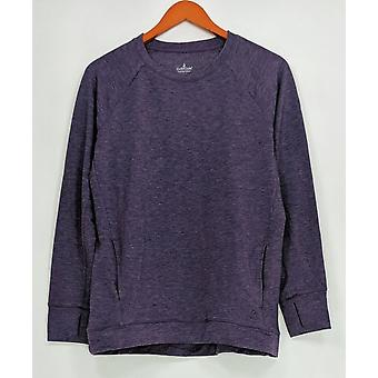 Cuddl Duds Women's Sleepshirt Comfortwear French Terry Purple A293081