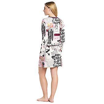 Feraud 3191112-11777 Femme-apos;s Casual Chic White Multicolour Loungewear Nightdress