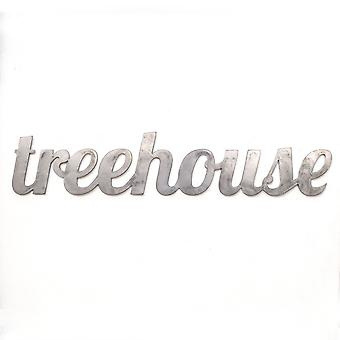 Treehouse - metal cut sign 32x6in