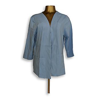 Denim & Co. Women's Sweater Essentials Perfect Jersey Blue A351575