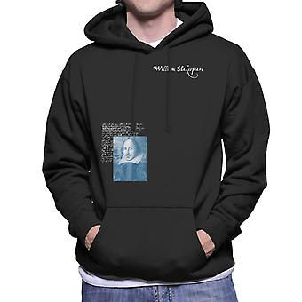 A.P.O.H Williams Shakespeare Writings Portrait Men's Hooded Sweatshirt