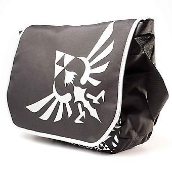 Nintendo Zelda Messenger Bag Triforce Silber neue offizielle Logo schwarz