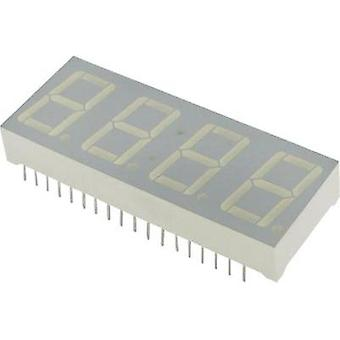 Seven-segment display Red (high efficiency red) 14 mm 2 V No. of digits: 4 Kingbright CC-56-11 SRWA