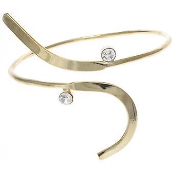 Glanzende gouden Deco Armlet bovenste Armlet Arm Band armband