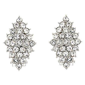 Clip op oorbellen winkel duidelijke Crystal Diamond Clip op oorbellen