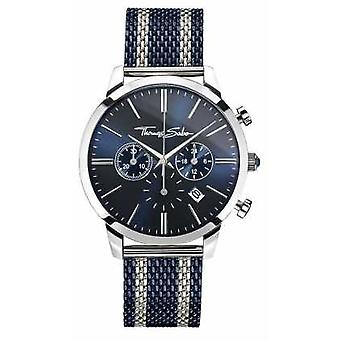 Thomas Sabo Mens Rebel Spirit Chronograph Navy WA0285-281-209-42 Watch