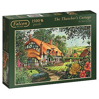 Falcon de Luxe Games The Thatcher's Cottage Jigsaw Puzzle (1500 Piece)