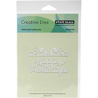 Penny Black Creative Dies-Happy Holly Days 51253