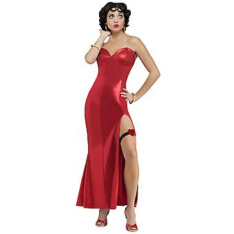 Betty Boop Jazz Flapper 50s Pin Up klänning kvinnor kostym