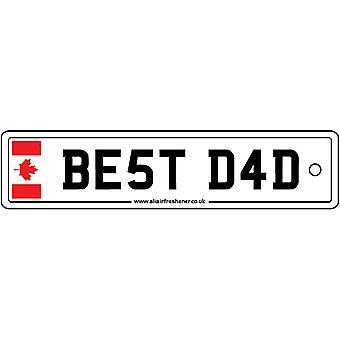 Canada - Best Dad License Plate Car Air Freshener