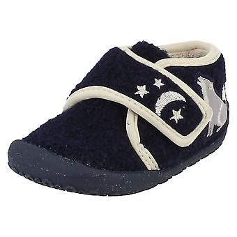 Infant Boys Clarks Slippers Night Fang