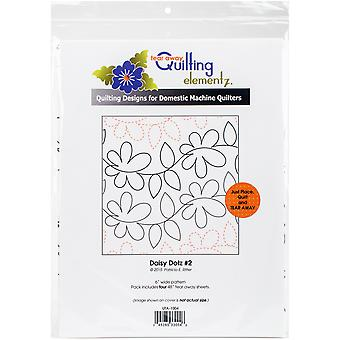 Quilting Creations Printed Tear Away Quilting Paper 4/Pkg-Daisy Dotz 6